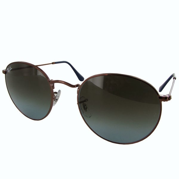 445499729ff96 Ray-Ban Round Metal RB3447 Mens Bronze Frame Blue Brown Gradient Lens  Sunglasses