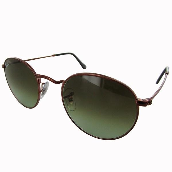658b434efed Ray-Ban Round Metal RB3447 Mens Bronze Frame Green Gradient Lens Sunglasses