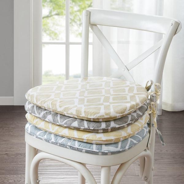 Madison Park Ella Printed Diamond Chair Pad Pair (Set of 2)