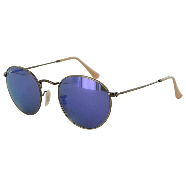 788c00336d23b9 Ray-Ban Round Metal RB3447 Womens Bronze Frame Violet Lens Sunglasses