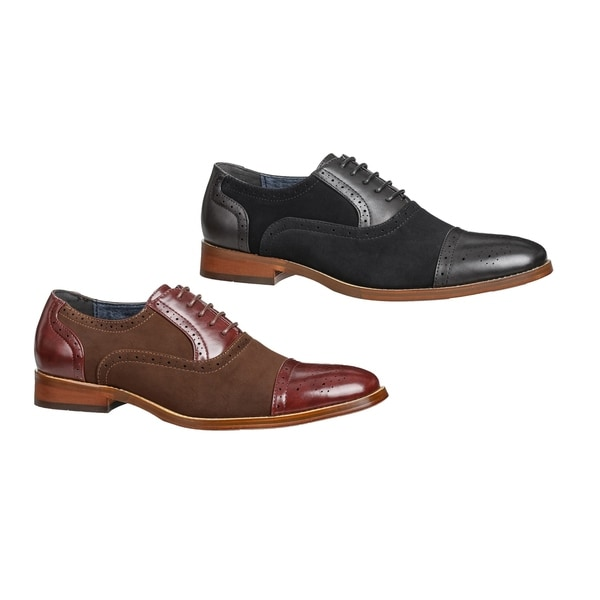 Shop UV Signature Men s Two-tone Lace-up Dress Shoes - Free Shipping ... 7a598ad37