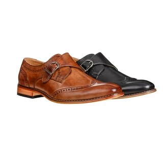 UV Signature Men's Single Monk Strap Wing Tip Shoes (More options available)