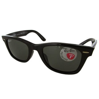 Ray-Ban Original Wayfarer Classic RB2140F Mens Black Frame Green Lens Sunglasses