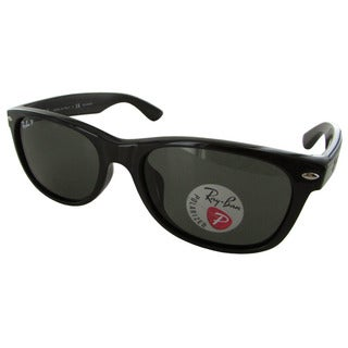 Ray-Ban New Wayfarer Classic RB2132F Mens Black Frame Green Lens Sunglasses