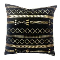 Black and Gold Decorative Throw Pillow