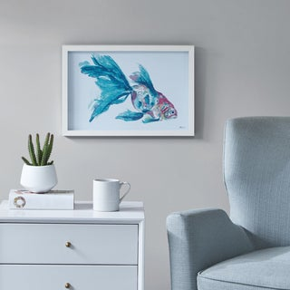 Urban Habitat Finely Goldfish Blue Frame Graphic