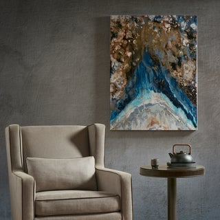 Tao Expression Blue Glass Coat Printed Canvas