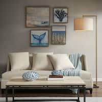 Madison Park Seascape Blue Gel Coat Framed Canvas 4PC Set