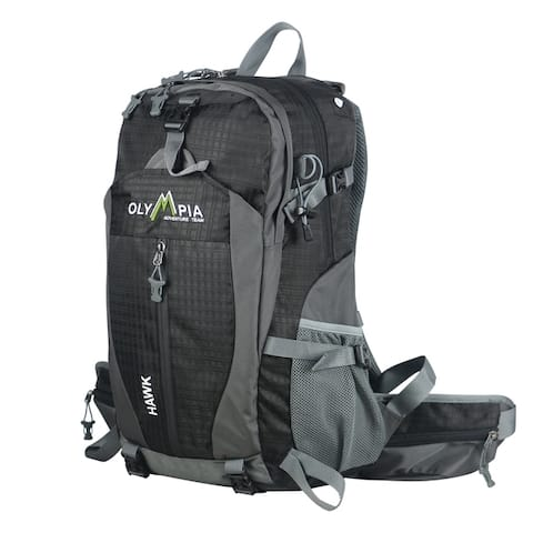 """Olympia USA Hawk 20"""" Polyester Outdoor Daypack 32L - Black"""