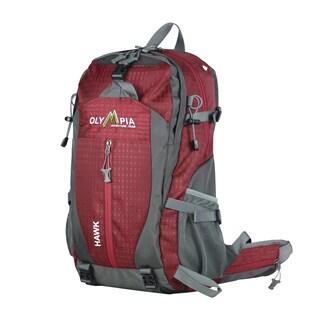 "Hawk 20"" Outdoor Backpack (32L) w/ Hideaway Rain (Option: Red)"