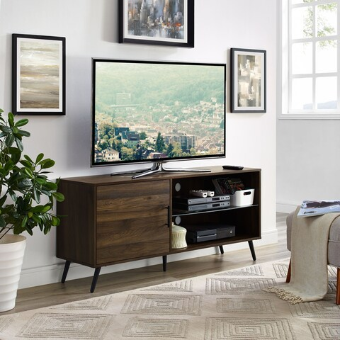 52-inch TV Stand Media Console with Hidden storage and Black Legs