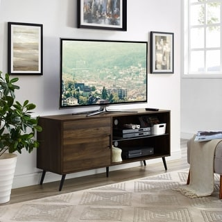 Palm Canyon Racquet 52 Inch Mid Century Modern TV Stand Media Console With  Hidden