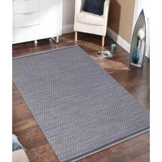 Sunset Violet New Zealand Wool/ Cotton Rug (8' x 10')