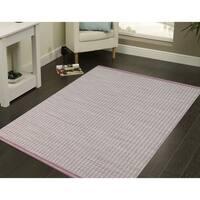 Hand-woven Sunset Pink New Zealand Wool Rug - 8' x10'