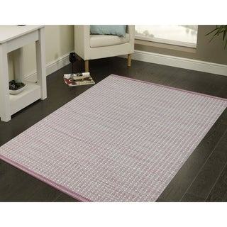 Handwoven Sunset Pink New Zealand Wool Area Rug (8' x 10')