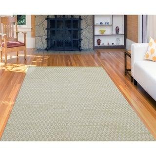 Sunset Yellow New Zealand Wool Handwoven Area Rug (8' x 10')