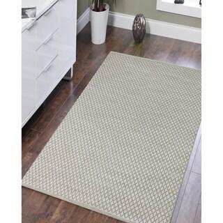 Sunset Cottage Trellis Handwoven Beige New Zealand Wool/ Cotton Area Rug (8' x 10')