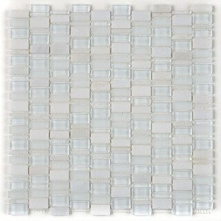 Clio Mosaics 1 X Random Mosaic Glass and Stone Tile 12 x 12 - 12x12