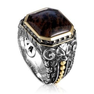 Stephen Webster Silver & Yellow Gold Spiderman Jasper Gargoyle Ring