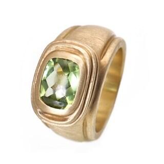 Slane & Slane Yellow Gold Peridot Ring