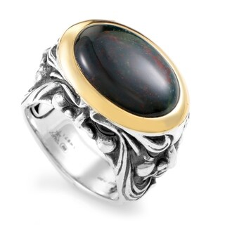 Stephen Webster Silver & Yellow Gold Bloodstone and Garnet Gargoyle Ring