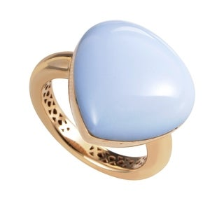 Women's Rose Gold Chalcedony Ring 0742-348-1