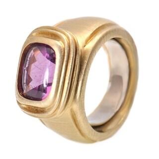 Yellow Gold Amethyst Ring