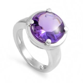 White Gold Amethyst Ring PPD2060Z