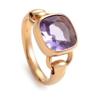 Rose Gold Amethyst Ring PPD1360