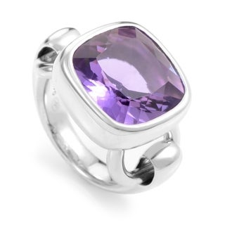 Poiray White Gold Amethyst Ring