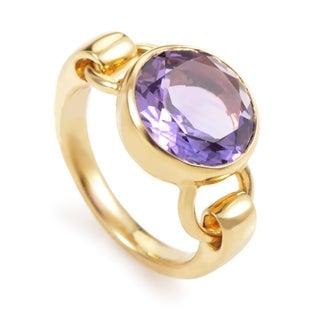 Yellow Gold Amethyst Ring PPD3065