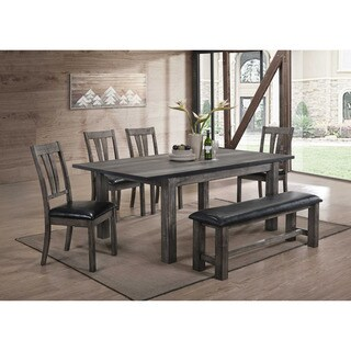 Cambridge Drexel Dining 6 Piece Set with Four Cushioned Chairs and Bench