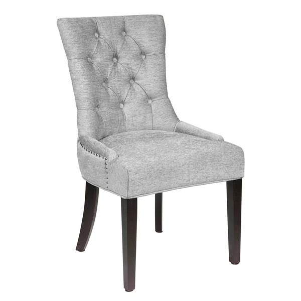 Chrome Dining Room Chairs: Shop Paris Grey Upholstered Dining Room Chair