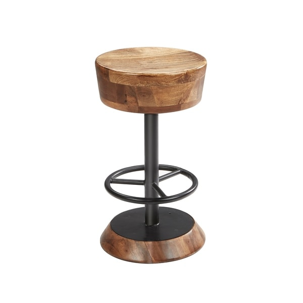 Shop Harper Industrial Wood And Metal Counter Stool On Sale Free
