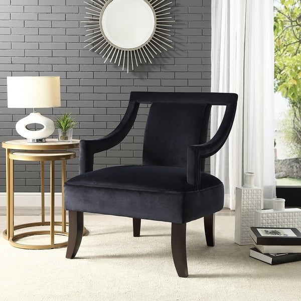 Shop Inspired Home Sheridan Velvet Accent Chair Swoop Arm ...