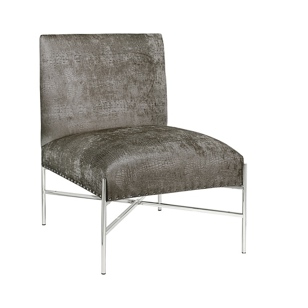Shop Riley Charcoal Grey Velvet Upholstered Living Room Chair On Sale Free Shipping Today