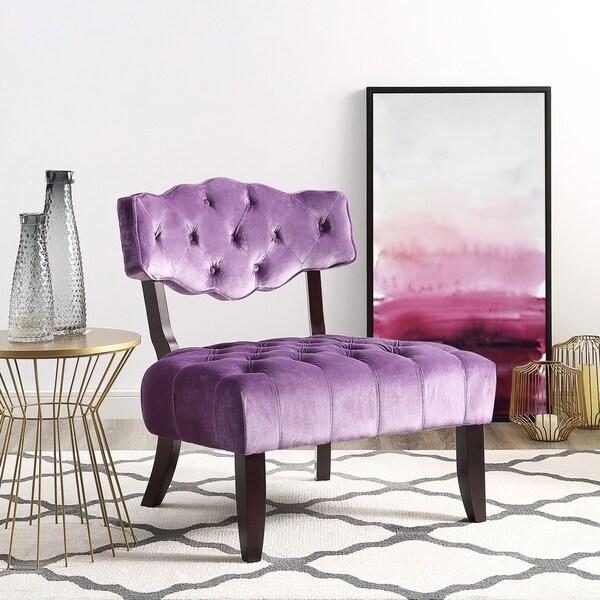 Shop Inspired Home Courtney Velvet Accent Slipper Chair