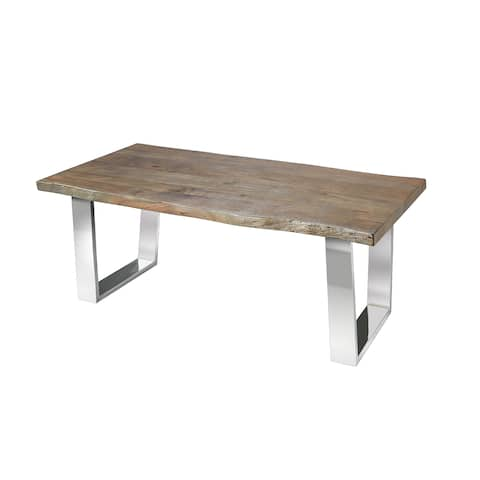 48 in. Industrial Live Edge Wood and Metal Coffee Table