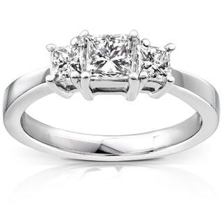 Annello by Kobelli 14k White Gold 1ct TDW Diamond Engagement Ring