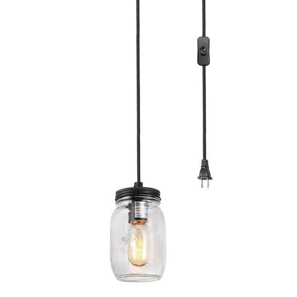 Shop lnc 1 light pendant lights clear glass jar pendant lighting lnc 1 light pendant lights clear glass jar pendant lighting aloadofball Images