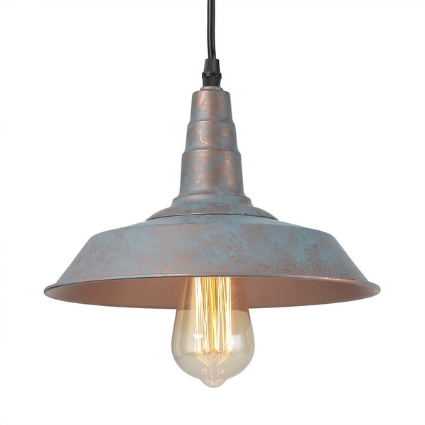 Shop LNC 1-Light Vintage Blue Pendant Lighting Rustic Barn