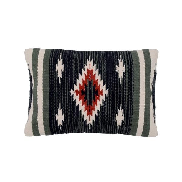 "Handmade Cotton Throw Pillow, Set of 2 (India) - 16'' x 24"""