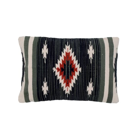 Handmade Cotton Throw Pillow, Set of 2 (India) - 16'' x 24""