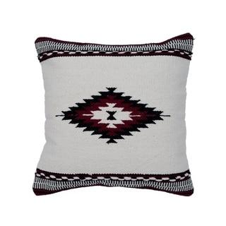 "Handmade 20"" Cotton Throw Pillow, Set of 2 (India)"
