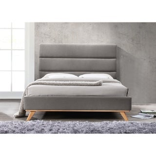 Omax Decor Kennedy Upholstered Platform Bed Queen