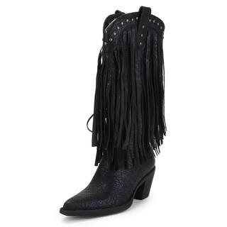 Ann Creek Women's 'Alley' Fringed Stud Boots