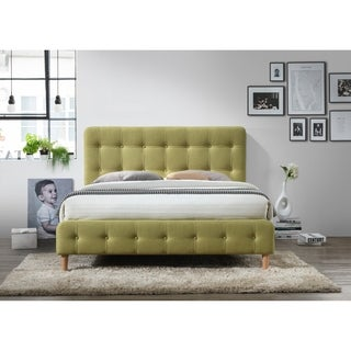 Omax Decor Hugo Upholstered Platform Bed Queen