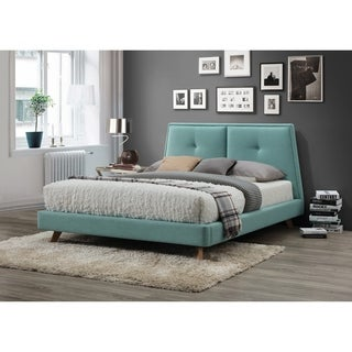 Omax Decor Kenzie Upholstered Platform Bed Queen
