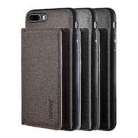 Iphone 8 / 7 Plus Wallet To Go Textured Coated Canvas Case