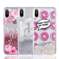 Iphone X Waterall Liquid Sparkling Quicksand Tpu Case
